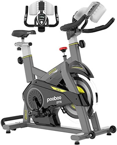 pooboo Magnetic Exercise Bikes Stationary Bike Belt Drive Indoor Cycling Bike Fitness Bike for product image