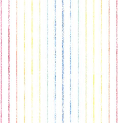 Papiertapete Tapete Streifen Getsreifte Tapeten Tapete Kinderzimmer Esprit-Tapeten 356952 35695-2 Esprit HOME Esprit Kids 5 | Bunt Weiß | Rolle (10,05 x 0,53 m) = 5,33 m²
