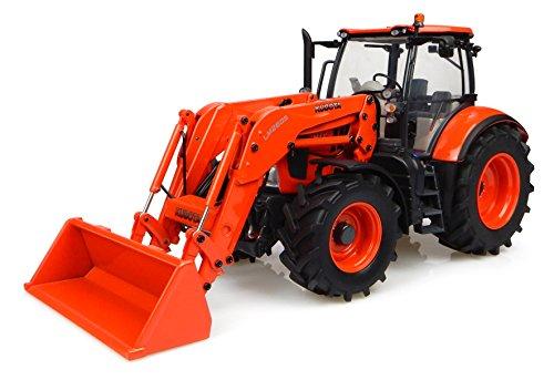 Universal Hobbies - UH 4940 - Tractor - Kubota M717 con el Cargador Frontal - 1/32 Escala - Naranja