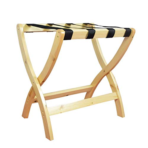 Cheapest Prices! HOMRanger Solid Wood Luggage Rack Hotel Luggage Racks Home Folding Storage Rack Fou...