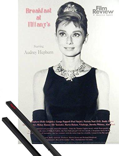 1art1 Desayuno con Diamantes Póster (91x61 cm) Audrey Hepburn - Film Review Collection Y 1 Lote De 2 Varillas Negras