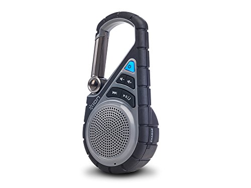 ION Audio Clipster Active | Bluetooth Clip-On Outdoor Speaker with Waterproof Rubber Covering & Mounting Bracket
