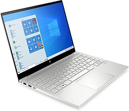 HP ENVY 14-eb0256ng (14 Zoll / WXGA IPS) Laptop (Intel Core i5-1135G7, 16GB DDR4 RAM, 1TB SSD, Nvidia GeForce GTX 1650Ti 4GB, Windows 10, QWERTZ-Layout, Wifi 6 + BT 5) silber, Fingerprintsensor