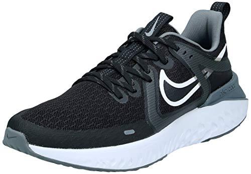 Nike Legend React 2, Zapatillas de Correr Mujer, Negro (Black/White/Cool Grey/Mtlc Cool Grey 001), 37.5 EU