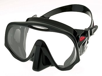 Atomic Aquatics Scuba Diving Frameless Mask, All Black, Standard Fit
