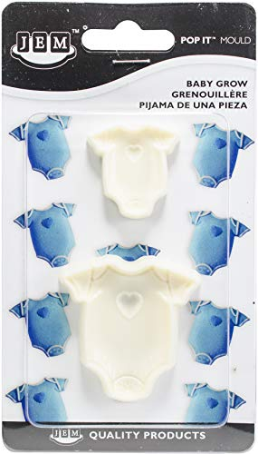 PME 1102EP001 JEM Pop It-motiefvorm baby-wax voor het versieren van taarten, assortiment 2 kleine maten, kunststof, ivoor, 5 x 2 x 5 cm