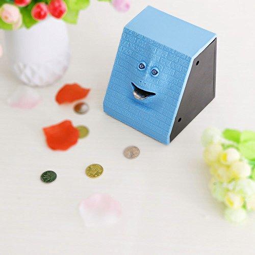 HITECHLIFE Gesichts-Bank-Münze Essen Sparkasse Brick Facebank Automatische Geld sparen Box -Blue