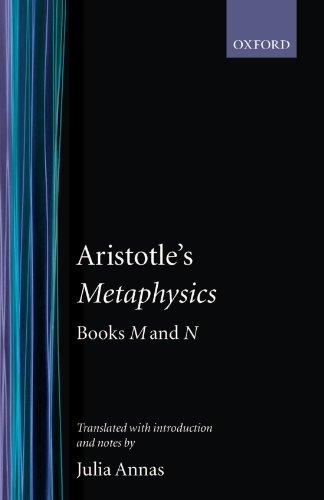 Metaphysics: Books M and N (Clarendon Aristotle Series)