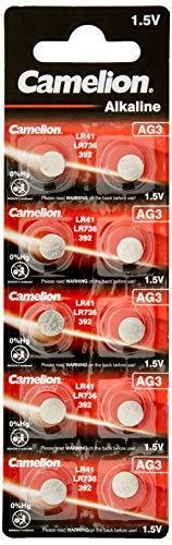 Camelion Alkaline Knopfzelle 1.5V (AG3, LR41, 192, 10er-Pack, Blister)