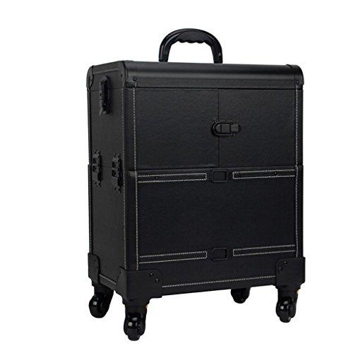 RKY Boîte à outils - trolley de maquillage, cas de voyage de maquillage de roulement, sac de maquillage de beauté, organisateur de cosmétiques sur roues Stockage multi-fonctionnel (Couleur : B)