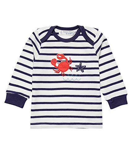 Sense Organics Crap AP T-shirt à manches longues pour bébé Bleu marine - Bleu - 62 cm/68 cm