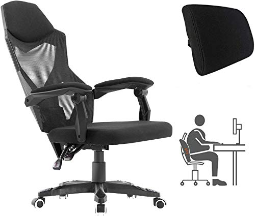 HOMEFUN Ergonomic Office Chair, High Back Executive Desk Chair Adjustable Comfortable Task Chair with Armrests with Lumbar Support Black