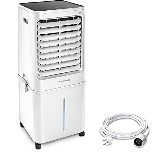 TROTEC Raffrescatore, ventilatore, umidificatore PAE 81 4-in-1 raffredda, rinfresca, pulisce, umidifica condizionatore d'aria mobile locale timer 60 l serbatoio d'acqua + Cavo di estensione 5m