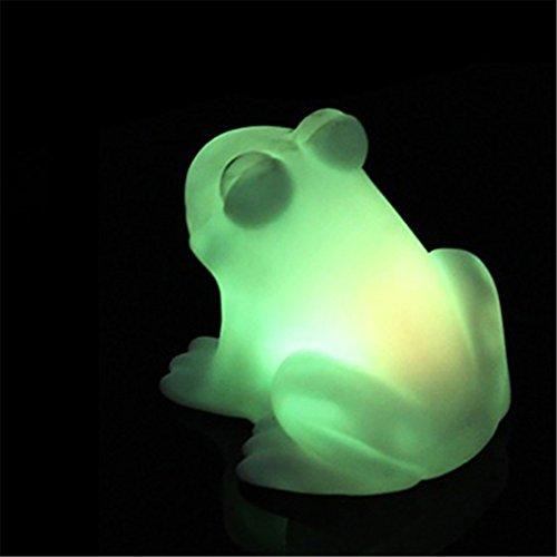display08 - Lámpara de noche LED en forma de rana y con colores cambiantes, bonita y colorida lámpara ideal para regalo