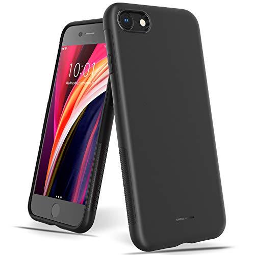 UNBREAKcable Coque iPhone 8 7 Se 2020, Bumper en TPU Souple, Housse Etui de Protection élégante Ultra-Mince 4,7'', Anti-Empreintes Digitales, Coque Silicone Anti-Choc et Anti-Rayure - Noir Mat