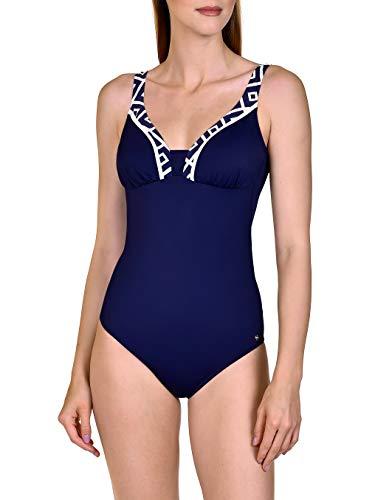 Lisca 43442-M4 Women's Costa Rica Cobalt Blue Padded Shaping Swimsuit 46E