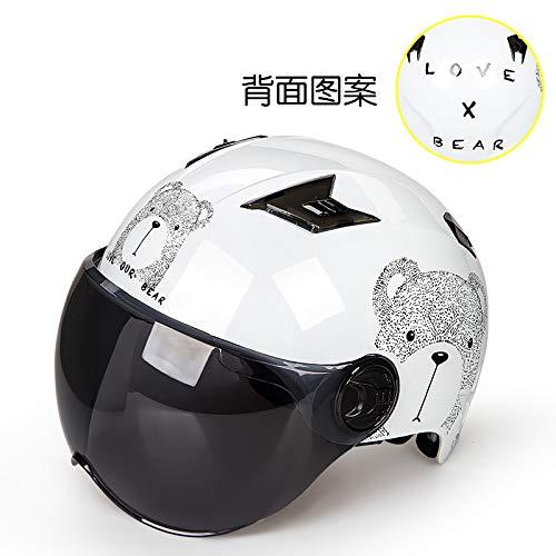 Helm, elektrische motorhelm, mannelijk batterijvoertuig, dames, zomerseizoen, lichtgewicht, schattig, harde hoed, zonnebrandcrème
