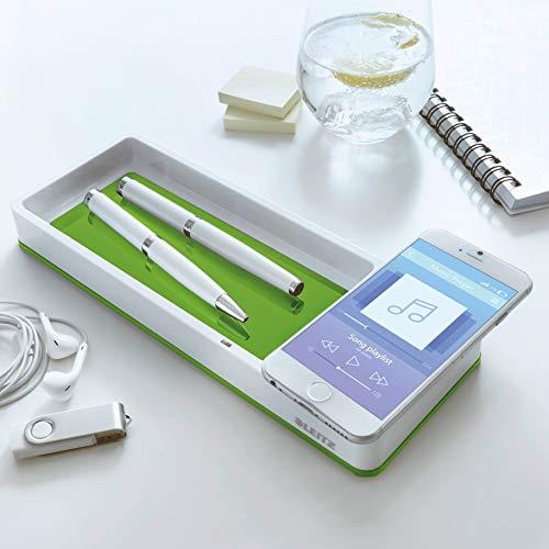 Leitz, WOW, pennenbakje met inductie-oplader in wit/groen