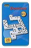 Idena 6050012 - Domino Spiel mit 28 Steinen, in einer Metallbox, mit Spielanleitung, Legespiel für...