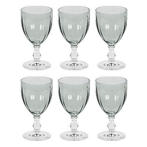 Bohemia Cristal 10259202 Georgia Weißweinkelch 240 ml, Kristallglas, Design im Landhaus-Stil, grün (6 Stück)