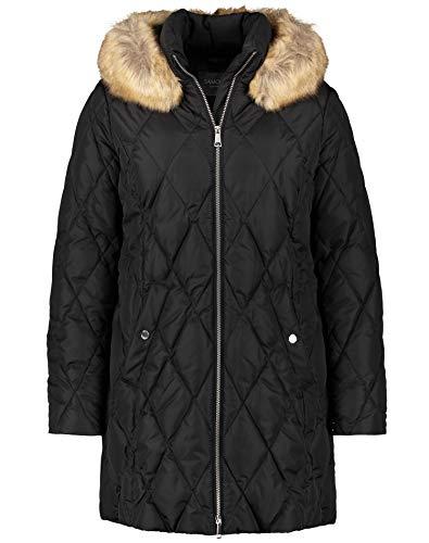 Samoon Damen 350013-21652 Jacke, Schwarz (Black 1100), (Herstellergröße: 50)