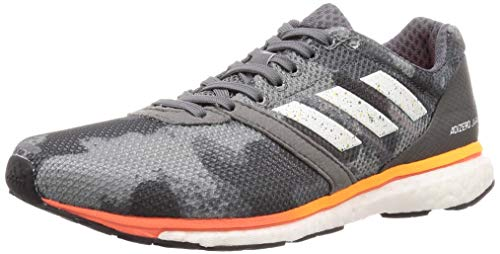 adidas Herren Adizero Adios 4 Laufschuhe, Grau (Grey Four F17/Ftwr White/Solar Orange Grey Four F17/Ftwr White/Solar Orange), 42 EU