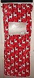 Berkshire Blanket Opulence Premium Loft Throw Red White Reindeer Holiday
