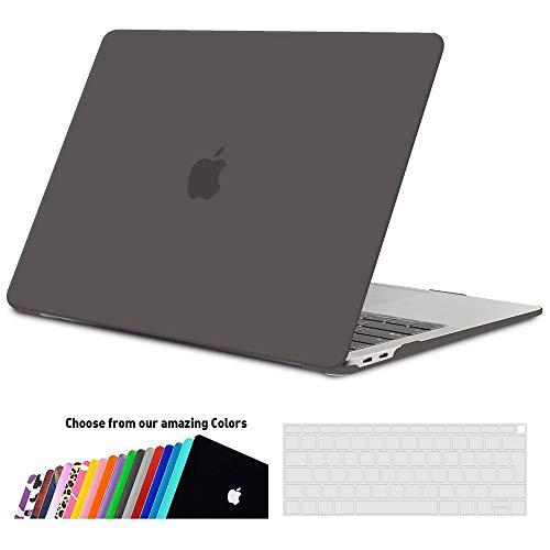 iNeseon MacBook Air 13 Hülle Case 2018, Ultradünne Hartschale Cover Schutzhülle + Tastaturschutz für neues Apple MacBook Air 13.3 Zoll mit Retina Display Touch ID Modell A1932, Grau