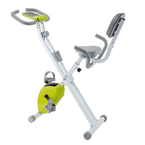 HSJSY Bicicleta EstáTica Indoor - Bicicleta De Spinning - Bicicleta Plegable con Pantalla LCD, Ajuste De Marcha, Magnetoresistance Continuo, Asiento Ajustable, Carga 120 Kg
