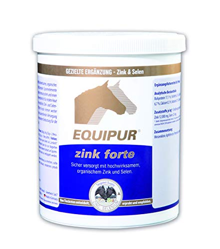 EQUIPUR - zink forte - Sicher versorgt mit organischem Zink und Selen, 1000 g Pellets in Dose