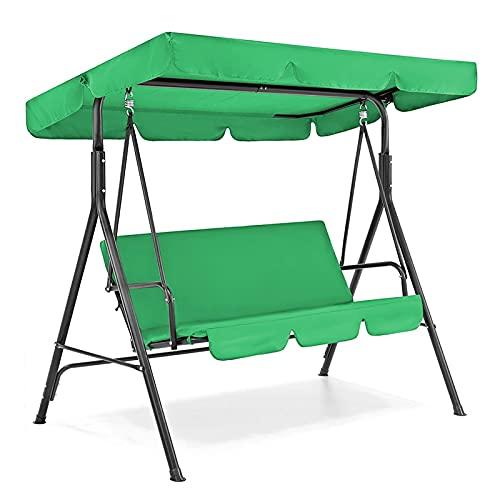 HMHMVM 2 unids/Set de sillas de jardín, Funda de Asiento de Columpio para Patio, Impermeable, a Prueba de Sol, Protector de decoración para Exteriores, toldo, Parasol, Solo Funda de Asiento sólida