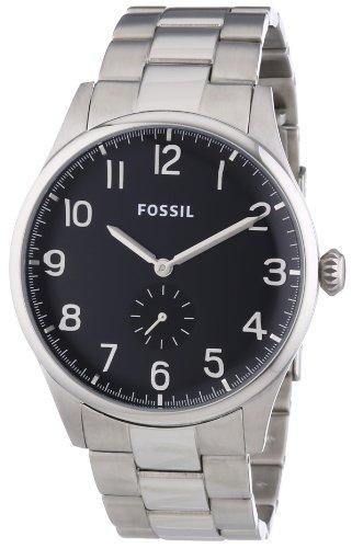 Fossil Herren-Armbanduhr XL The Agent Analog Quarz Edelstahl FS4852