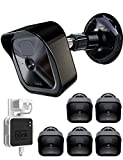 COOLWUFAN Mount Bracket for Blink Outdoor Camera & All-New Blink Outdoor/Indoor Camera System, Weather Proof Protective Adjustable Mount & Cover with Blink Sync Module Outlet Mount (Black (5 Packs))