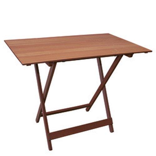 Tavolo pieghevole in legno di faggio noce marrone 100x60 cm