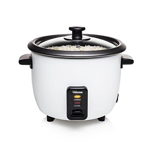 Tristar Reiskocher - 0,6L, Reis für bis zu 3 Personen ohne Anbrennen, mit Warmhaltefunktion, 300W, Edelstahl, Weiß, RK-6117