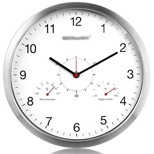 WPL Thermomètre Thermomètre diamètre surdimensionné Dial Température métal hygromètre Mute Salon Creative Horloge Murale/Importation et Exportation Moderne Minimaliste Horloge, hygromètre Higrómetro
