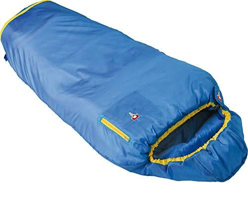 Grüezi-Bag 05756 Mitwachsender Mumienschlafsack für Kinder | Ultraleicht, Atmungsaktiv, Pflegeleicht | (Water Blau, M)
