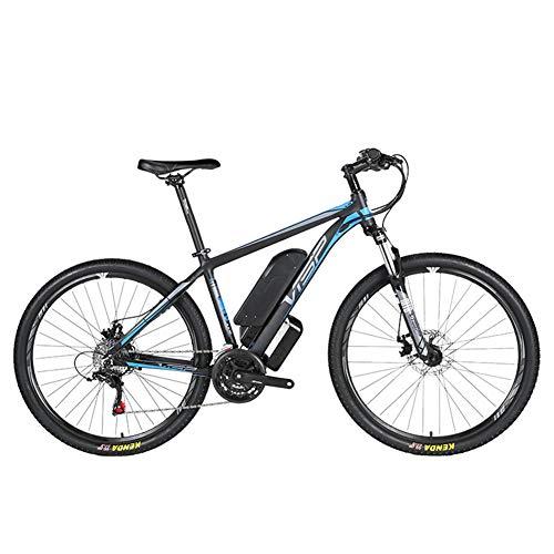 D&XQX Bicicleta eléctrica Montaña (26-29 Pulgadas), con Gran Capacidad extraíble de Iones de Litio (36V 250W), Bicicleta eléctrica 24 Speed Gear y Modos de Trabajo de Tres,Azul,29 * 19in