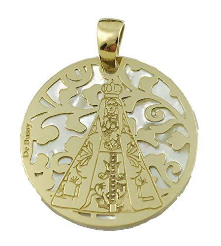 Medalla Virgen Nuestra Señora de Begoña en Plata de Ley Cubierta de Oro de 18kt