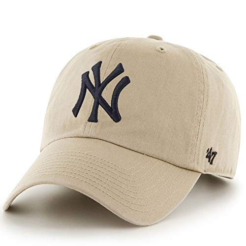 Gorra curva beige de New York Yankees MLB Clean Up de 47 Brand - Beige, Talla única