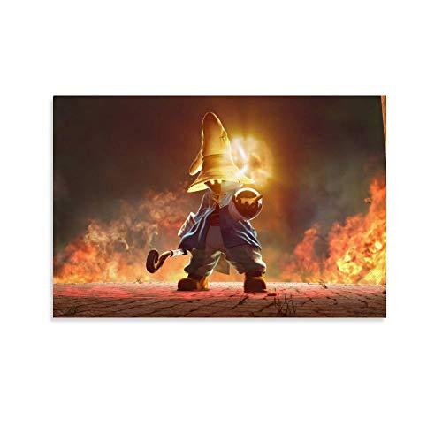 DRAGON VINES Final Fantasy 9 VIVI - Lienzo decorativo para pared, diseño de llama, 60 x 90 cm
