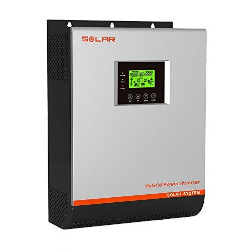 Inverter Solar Hybrid-Wechselrichter, 3kW, 24V, 50-A-MPPT-Solarladeregler, 30A VPM