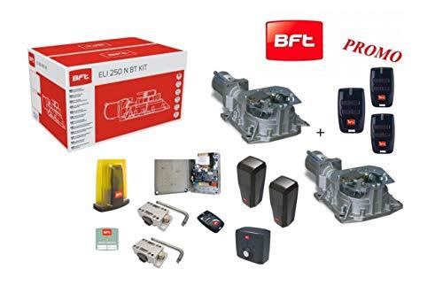 BFT Promo Kit Eli 250 BT N Automatische poort elektrisch 24 V tot 400 kg en 3,5 meter motor Interrato R93014200001 3 Telecomandi Mitto B RCB4 Omaggio