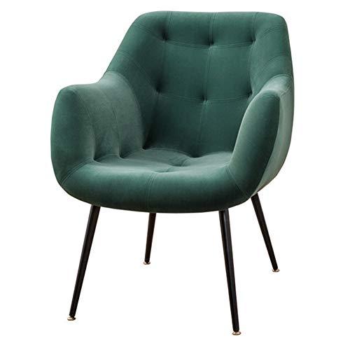 HUAYIN Velvet Accent Chair, Getuftete Gepolsterte Sofastühle Bequemer Einzelsofa-Sessel Mit Hoher Rückenlehne Für Schlafzimmerlesung Mid-Century Modern Living Room Chair,Grün