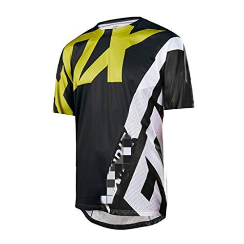 Ciclismo Jersey de Los Hombres, Manga Larga Jersey de Descenso Camiseta de Bicicleta Moto Motocross MTB Jersey Ciclismo (TYP-6,S)