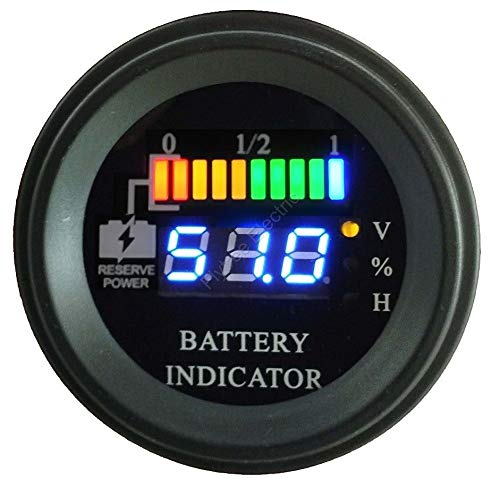 EZGO 33636G05 Vertical State of Charge Meter 48-Volt