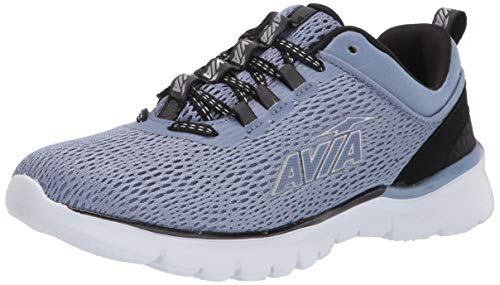 Avia Avi-Factor Zapatillas de correr para mujer, Azul (Stonewash/negro/plateado/negro reflectante), 38.5 EU