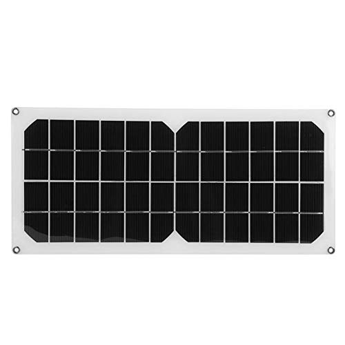 Emoshayoga Panel Solar monocristalino de 10W 12V Panel Solar Impermeable con diseño de protección de sobrecarga para Ciclismo al Aire Libre Escalada de montaña Senderismo Camping Uso