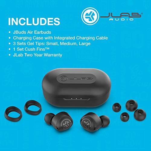 JLab JBuds Air True Wireless In-Ear-Auriculares con Ladeetui Negro