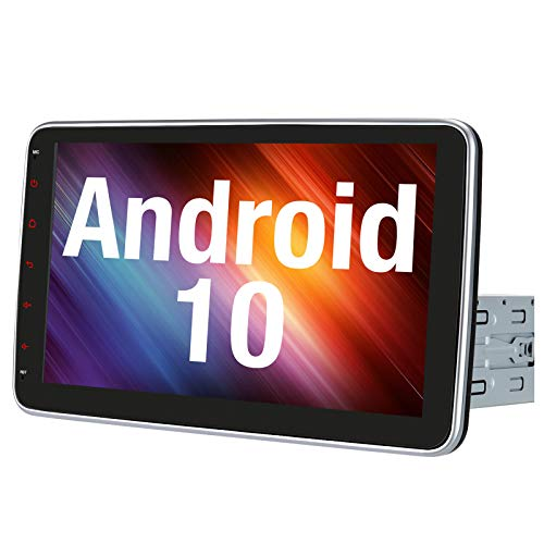 """Vanku 10.1"""" Android 10 Car Stereo Single Din with Fast-Boot, Detachable Touchscreen, Support Backup Camera, Android Auto, GPS, Mirror Link, USB"""